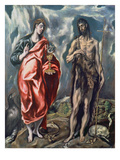 St John the Evangelist and St John the Baptist  17th Century (Oil on Canvas)
