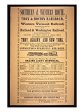 Train Poster for the Southern and Western Route  1854 (Litho)