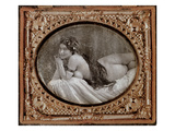 Reclining Nude  C1850  from a Book of Photography Published in 1980 (Photo)
