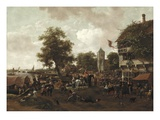 The Fair at Oegstgeest  C1655/60 (Oil on Canvas)