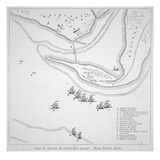 Plan of the Attack on Sullivan's Island (Litho)