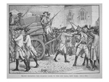 British Troops Escorting the Stamped Paper to the City Hall  New York (Litho)