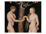 Eve Offering the Apple to Adam in the Garden of Eden  C1520-25 (Oil on Wood) (Detail of 407328)