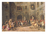 Louis Xiii at the Chateau of Blois  1874 (Oil on Canvas)