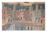 Detail of Good Government in the City 1338-40 (Fresco)