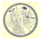 Theseus and Aethra  Illustration from 'Greek Vase Paintings'