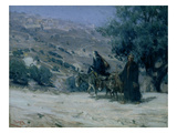 Flight into Egypt  1899 (Oil on Canvas)