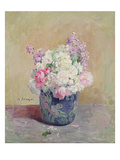 Vase of Flowers (Oil on Canvas)