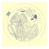 Interior of Cylix by Euphronios  Illustration from 'Greek Vase Paintings'