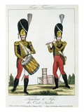 Swiss Guard  Tambour and Fife Players  C1790 (Colour Litho)