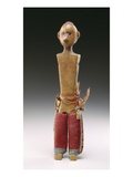 Male Figure (Love Doll) Potawatomi  1800-60 (Wood and Wool Fabric)