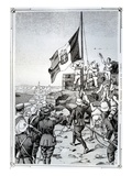 Raising the Italian Flag over Tripoli on 5 October 1911  1911 (Litho)