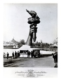 The Hand and Torch of the Statue of Liberty  1876 (B/W Photo)