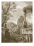 Plate I  from 'Ruins of the Palace of Emperor Diocletian at Spalatro in Dalmatia'  Published 1764