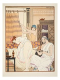 An Enema  Illustration from 'The Works of Hippocrates'  1934 (Colour Litho)
