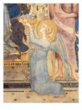 Maesta: Angel Offering Flowers to the Virgin  1315 (Fresco) (Detail of 51591)