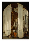 The Nieuwe Kerk at Delft with the Tomb of Willem the Silent  C1650/51 (Oil on Oak Panel)