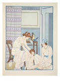 Care of Infants  Illustration from 'The Works of Hippocrates'  1934 (Colour Litho)