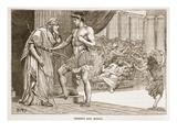 Theseus and Aegeus (Litho)