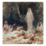 Apparition  Illustration for a Literary Work by Edmond Rostand (1868-1918) (Oil on Canvas)