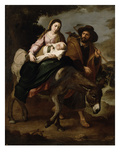 The Flight into Egypt  C1647/50 (Oil on Canvas)