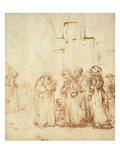 Simeon and Jesus in the Temple (Drawing)