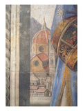 The Duomo  Detail from the Fresco in the Sala Dei Gigli  C1470 (Fresco)