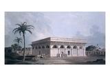 Chaunsath Khamba  Nizamuddin  New Delhi (Coloured Aquatint)