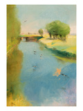 Canal  1897 (Pastel on Canvas)