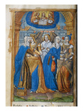 Livre D'Or  with Allegories of the Church  Justice  Peace and Mercy  C1500 (Vellum)