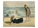 On the Beach  c1868