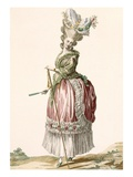 Provencial Style Lady's Walking Gown  Engraved by Dupin  Plate No17
