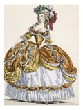 Grand Court Dress in New Style  Engraved by Dupin  Plate 291