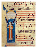 Fol 4V Detail of the Angel from Gradual  C1260 (Vellum) (Detail of 415713)