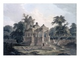 Hindu Temple in the Fort of the Rohtas  Bihar  India (W/C on Paper)
