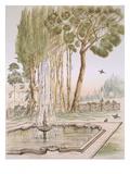A Garden in Turkey  19th Century (Chromolith)