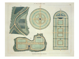 Four Plans for Kitchen Gardens  from 'Hints on the Formation of Gardens and Pleasure Grounds'