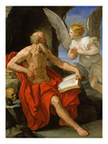 Angel Appearing to St Jerome  C1640 (Oil on Canvas)