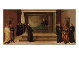 St Nicholas of Tolentino Restoring Two Partridges to Life  C1500-30 (Tempera on Wood Panel)
