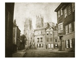 West Front  York Minster  from Lendall Street  1845 (B/W Photo)