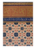 Pl 22 Architectural Decoration  Prob Mosaic Work  Inc Border  19th Century (Folio)