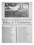 Punishment of a Counterfeiter in the Pillory at Charlestown  Published in Boston  1767