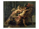 The Rape of the Daughters of Leucippus  1637-39 (Oil on Canvas)