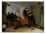 The Card Players  1846 (Oil on Canvas)