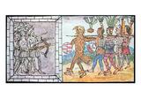 Spanish Soldiers Defend Fortress Against Besieging Aztecs