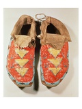 Quill Work Moccasins  Sioux Culture (Leather and Beads)