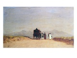Travellers' Halt in the Roman Campagna  c1868