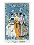 Les Trois Graces  1918 (Colour Litho)
