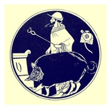 Hermes and the Masked Dog  Illustration from 'Greek Vase Paintings'