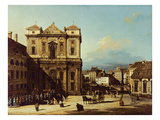 The Freyung in Vienna  View from the Northwest  C1758 (Oil on Canvas)